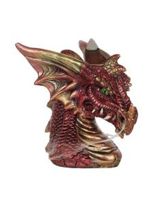 Small Red Dragon Head Backflow Incense Burner