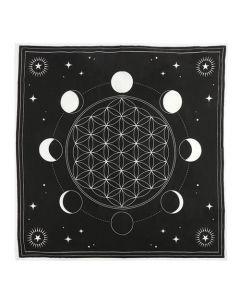 Moon Phase Crystal Grid Altar Cloth 70x70cm