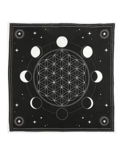 Moon Phase Crystal Grid Altar Cloth 70x70cm