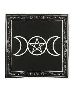 Triple Moon Grid Altar Cloth 70x70cm
