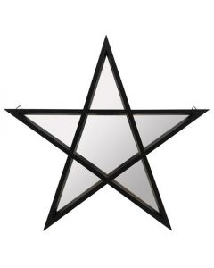 Black Framed Pentagram Mirror - Star Mirror