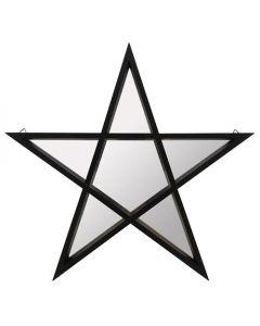 Espejo de pentagrama con marco negro - Star Mirror