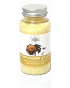 Green Tree Sandalwood-Clove Sea Salt For Aromaburners