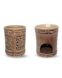 Mandala ceramic aromaburner (13x13x16)