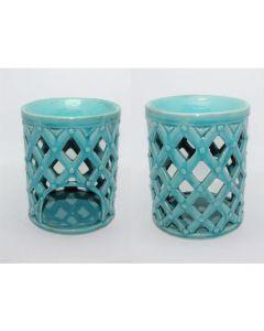 Turqoise ceramic aromaburner (13x13x16) 67042