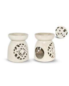 White ceramic aromaburner 17cm
