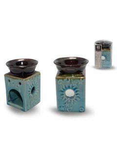 Sky blue ceramic Aromaburner 7x12x7cm