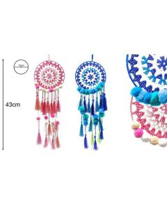 Dreamcatcher Blue and Pink 15x43cm (4 pieces)