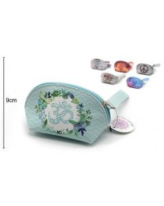 Wallet Oval Light Blue 15x9x8cm