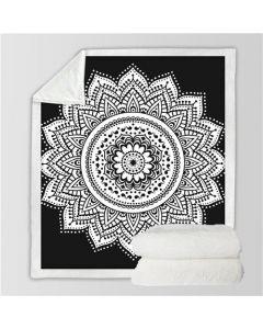 Microvezel Deken Zwart Wit 130x150cm