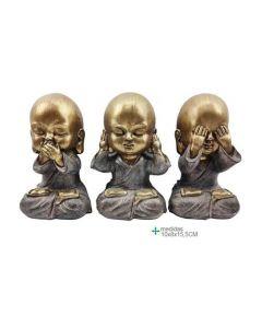 3 Buddhas blinde doofstomme 6,2x6,2x13,8 (3 Buddhas)