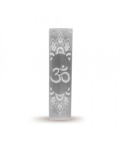 Soporte de Incienso de Selenita OM 15 cm