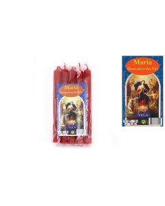 Vela Para Ritual Maria desatadora de Nudos 1,5X15cm (5 Velas)