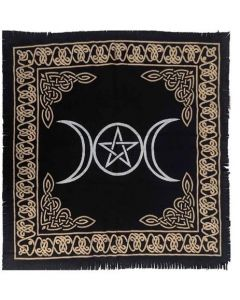 "Cotton Altar cloth 24""x24"" TRIPLE MOON"