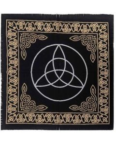 "Cotton Altar cloth 24""x24"" Triquetra"