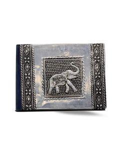 Vintage Aluminium Address Book Small Elephant 11 x 8 cm