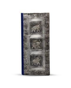 Vintage Aluminium  Book 3 Elephants 18x9 cm