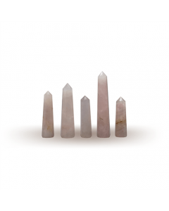 Rose Quartz Pencil 6-10cm Set of 5 pieces