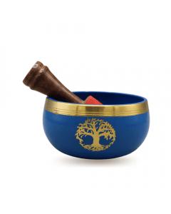Singing bowl blue Tree Of Life 9 cm set of 4
