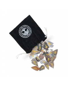 Arrowheads Rune Viking with Velvet Bag 25 pcs