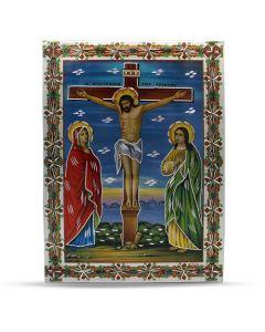 Aluminium Plate Jesus On The Cross 21 X 30