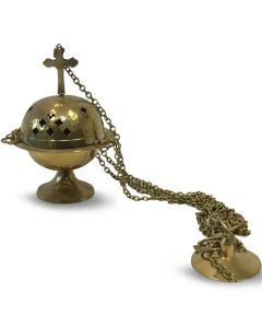 Hanging incense holder brass
