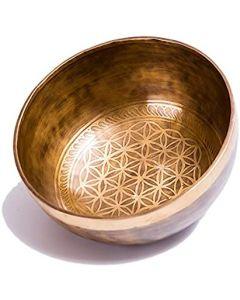 Handmade flower of life singing bowl 500 gram to 1 kg