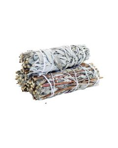 White Sage & Royal Sage Smudge Stick 10cm (price per pc)