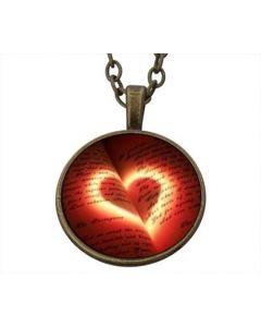 Lucky Pendant Red Heart 22mm