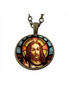Lucky Pendant Jesus Christ Face 22mm