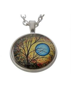 Lucky Pendant Tree of Life and Blue moon 22mm