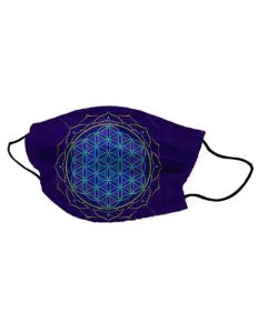 Yogi Mask Flower of Life Blue