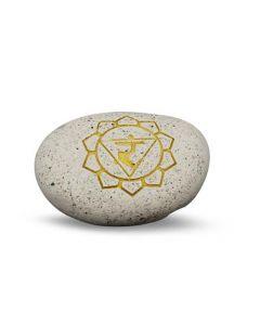 Pebble- Engraved River Stone 3th Chakra Yellow
