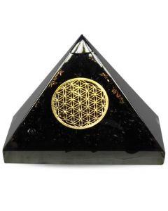 Orgonite Pyramid-Shungite-Flower Of Life 70 mm