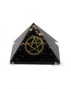 Orgonite Pyramid- Black Tourmaline, Pentacle