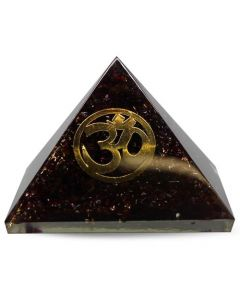 Orgonite Pyramid-Garnet, Om 40 mm