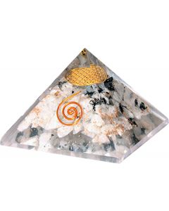 Agate Resin Pyramid 7c With Copper Spiral