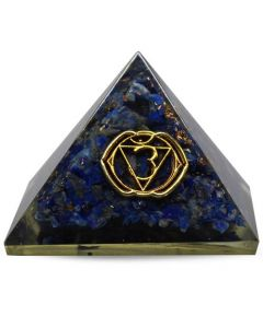 Orgonite pyramid - Third Eye chakra, Sodalite