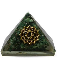 Orgonite Pyramid-Heart Green Aventurine 40 mm