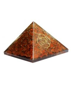 Orgonite Pyramid - Base Chakra Jasper 40mm