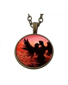 Lucky Pendant Angel In Water 22mm