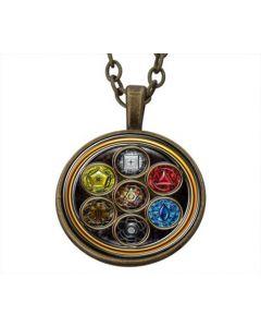 Lucky pendant Merkaba Portal In Trinity incl. chain
