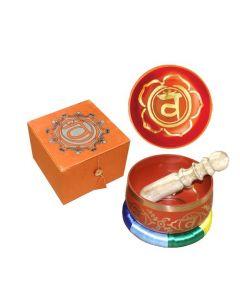 """Chakra Singing Bowl Orange-Sacral 5"""" dia--31245"""