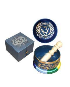 """Chakra Singing Bowl Cobalt-Third Eye dia 5""""  --31249"""