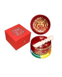 "Chakra Singing Bowl Red-Root dia 5"" --31252"