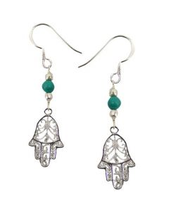 EARRINGS HAND- TURQUOISE