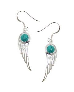 EARRINGS ANGEL WINGS-TURQUOISE