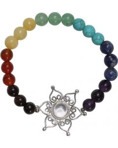 7 Chakra Bracelet with lotus flower