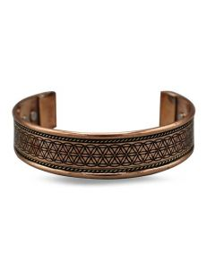 Copper Bracelet  Flower of Life (with magnets)