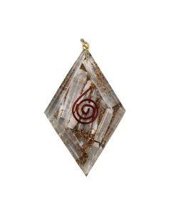 Orgonite Pendant Diamond Shape Selenite Inside
